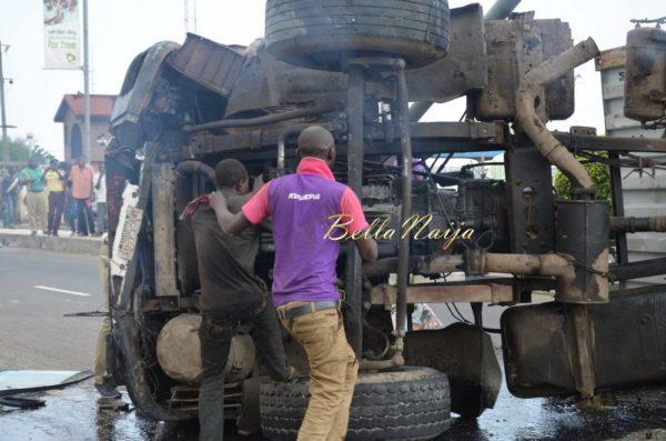 BN Exclusive -Truck collapses in Maryland, Lagos - October 2013 - BellaNaija012