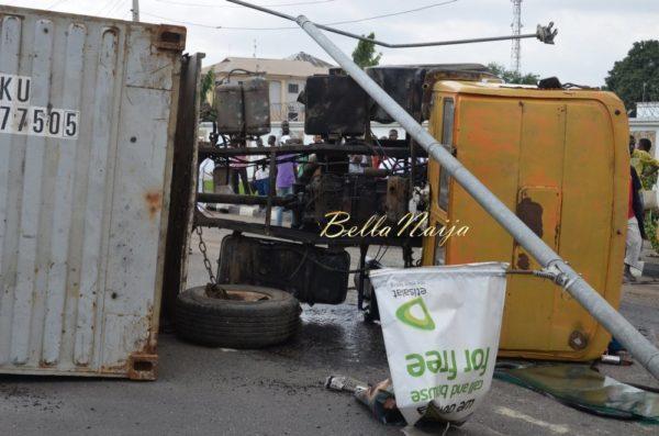 BN Exclusive -Truck collapses in Maryland, Lagos - October 2013 - BellaNaija023
