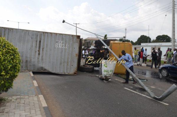 BN Exclusive -Truck collapses in Maryland, Lagos - October 2013 - BellaNaija025