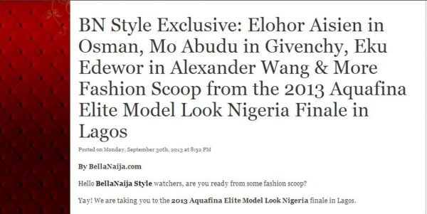 BN Style Exclusive - October 2013 - BellaNaija