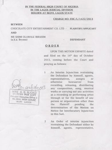 Brymo Court Injunction - October 2013 - BellaNaija (3)