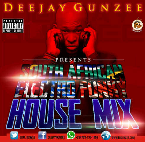 DJ GUNZEE FUNKY HOUSE MIX ALBUM COVER - Octboer 2013 - BellaNaija