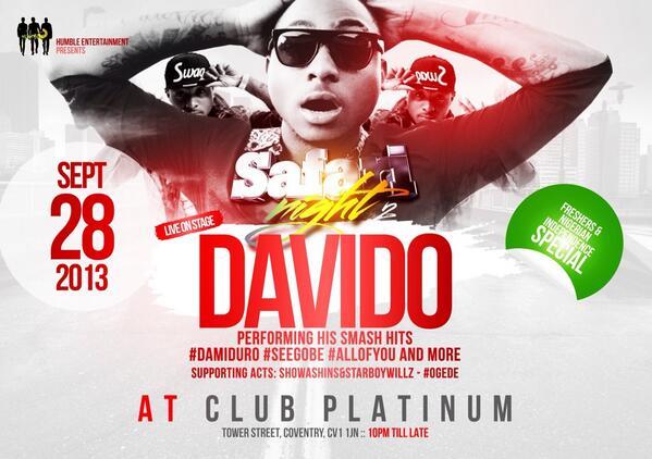 Davido UK Tour