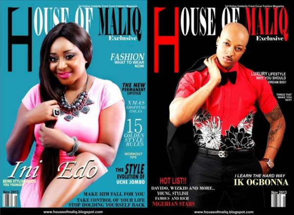 Ini Edo & Ikay Ogbonna cover House of Maliq's November Issue - October 2013 - BellaNaija003