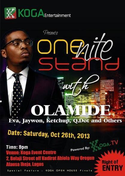 Koga Entertainment On Nite Stand with Olamide - BellaNaija - October 2013