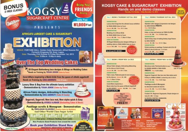 Kogsy Sugarcraft Exhibition - BellaNaija - October 2013
