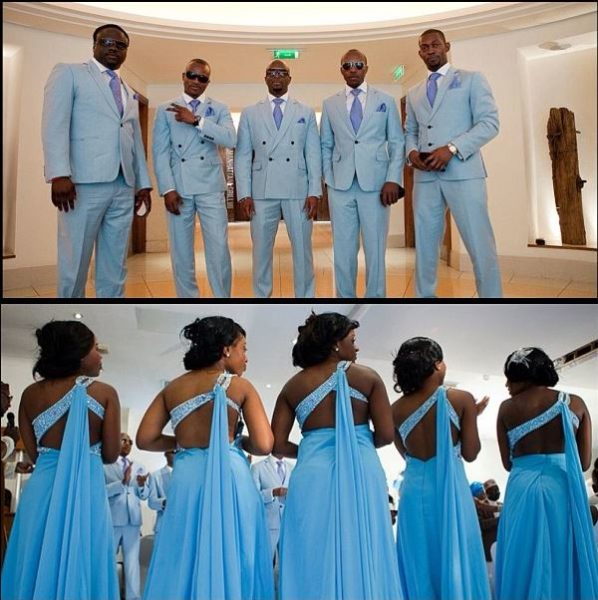 Maze couture blue groom groomsmen