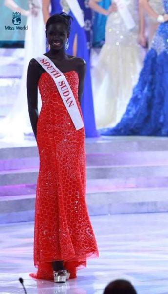 Miss South Sudan Modong Manuela Mogga