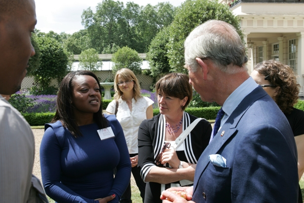 Ronke with the Prince of Wales