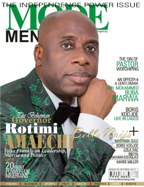 Rotimi Amaechi - October 2013 - Mode Men Magazine - BellaNaija