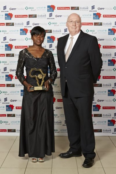 Toyosi Ogunseye & Steven Allen (Regional Director, UNICEF Eastern and Southern Africa)