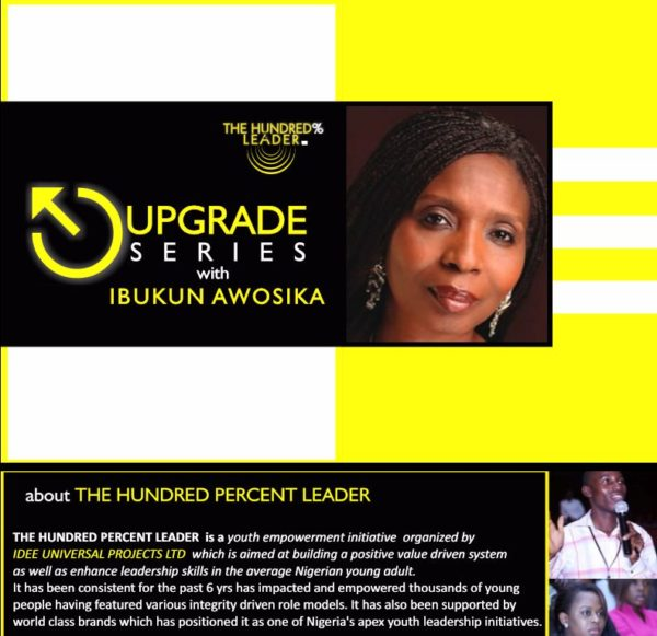 Upgrade Series with Ibukunn Awosika - BellaNaija - October 2013