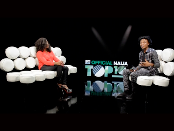 VJ Ehis and Beat FM OAP Gbemi on the MTV Base Official Naija Top 10 - October 2013 - BellaNaija