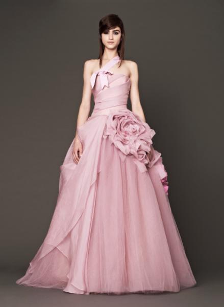 Vera Wang Pink Bridal Collection Fall 2014-2