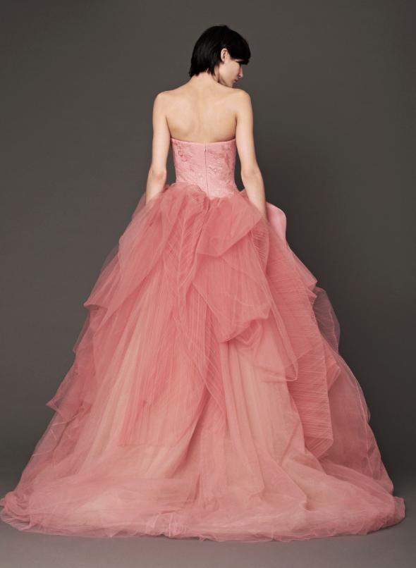 Bn bridal vera wang fall 2014 collection think pink for Vera wang 2014 wedding dress