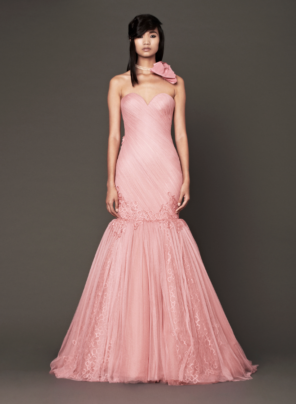 Vera Wang Bridesmaid Dresses Fall 2014 Vera Wang Pink Bridal