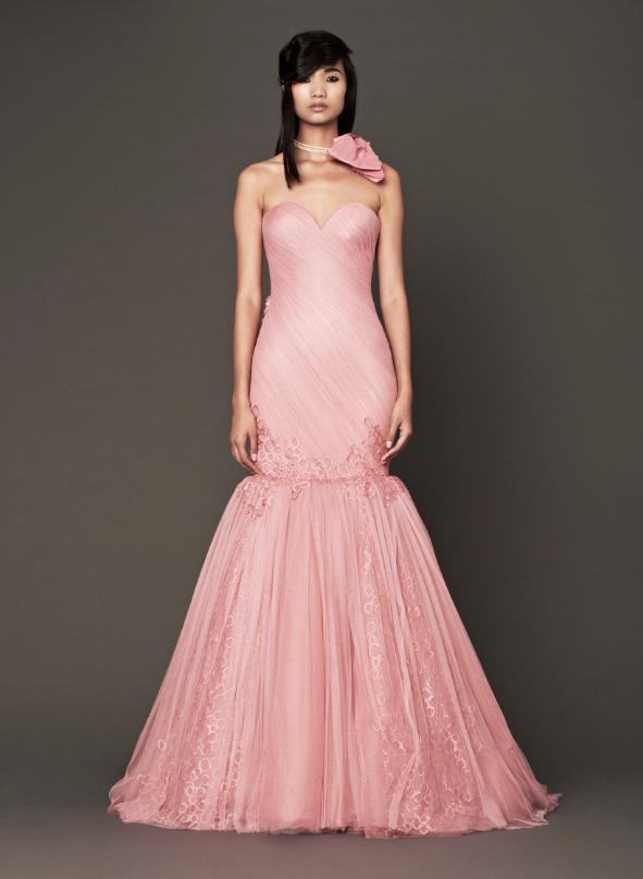 BN Bridal: Vera Wang Fall 2014 Collection - 'Think Pink!' - BellaNaija