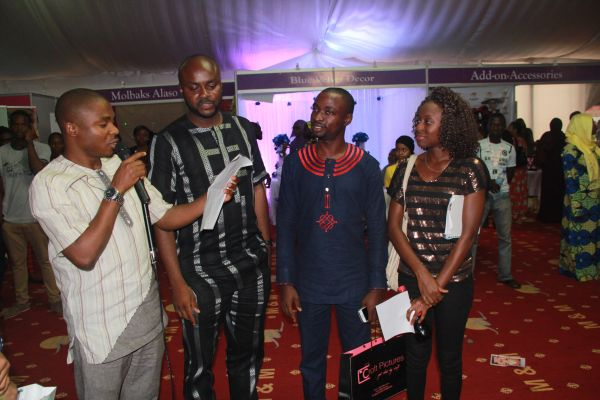 The lucky couple who won a free venue for their wedding at Merry Makers Marquee, Abuja