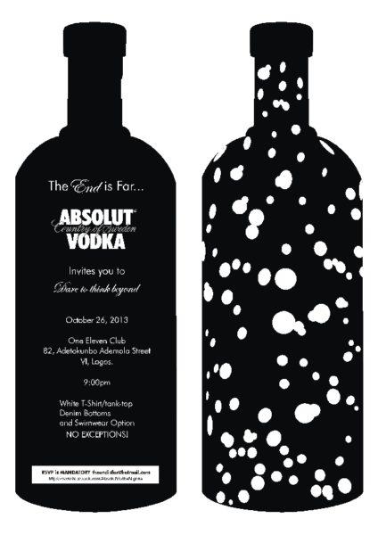 Absolut Vodka Dare to Think Beyond - October 2013 - BellaNaija
