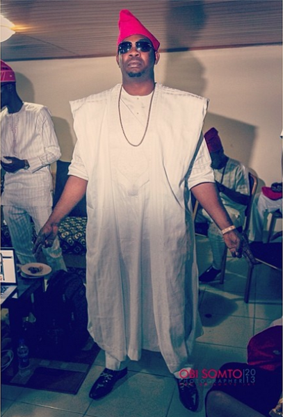 Don Jazzy doing Olamide's Gun Man Pose