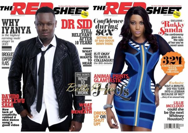Dr Sid & Rukky Sanda cover The Redsheet Magazine's November 2013 Issue - BellaNaija 01