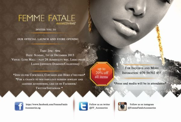 Femme Fatale Accessories Launch - Bellanaija - November 2013