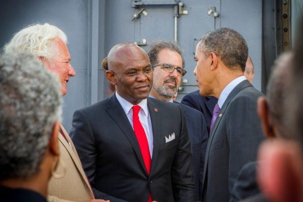 Tony Elumelu with President Obama