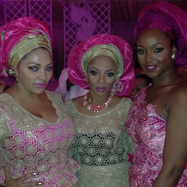 The P-Square Misses & Toke! (L) Newlywed Lola Okoye, (R) Paul Okoye's Fiancee Anita Isama