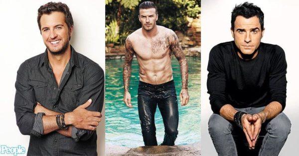 Luke Bryan, David Beckham & Justin Theroux