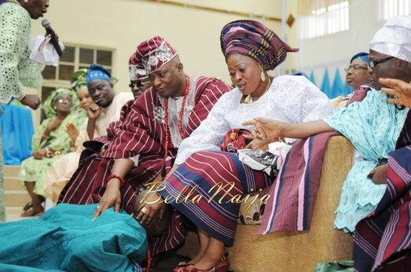 Nigerian Muslim Wedding BellaNaija Yoruba Traditional Wedding Engagement PeacockTAP_5012