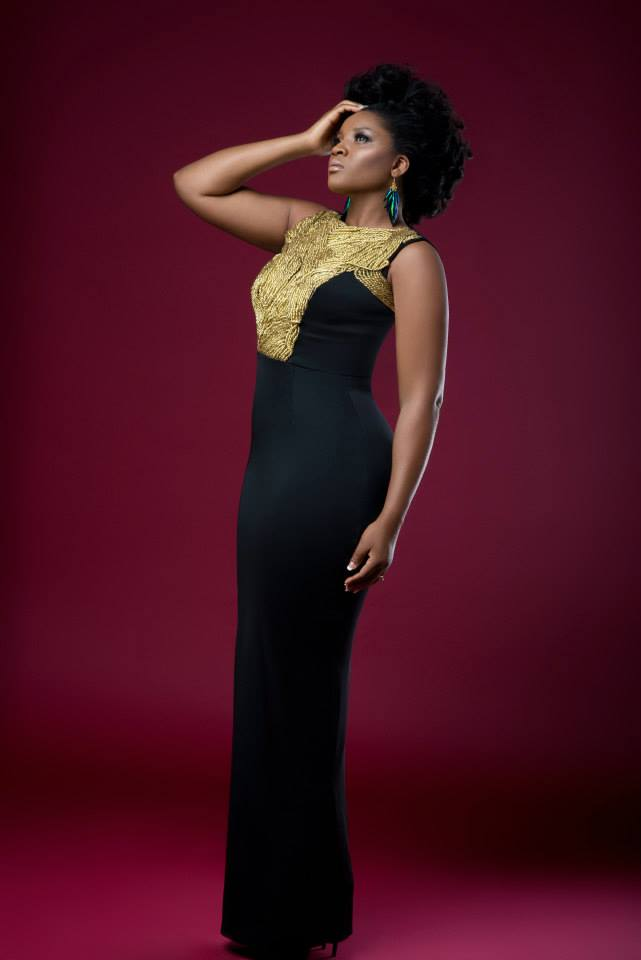 Oh Omosexy Omotola Jalade Ekeinde Glitters In Gold On The