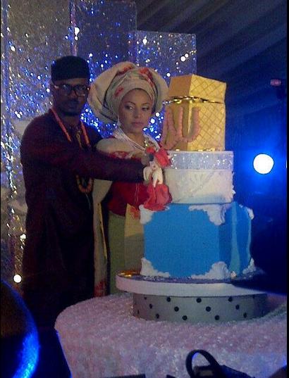 Peter lola wedding cake