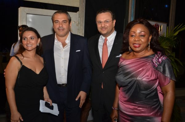 Sarah Boulos, A guest, Massaad Boulos, Florence Ita Giwa