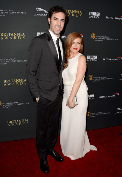 Sacha Baron Cohen & Isla Fisher in Burberry Prorsum