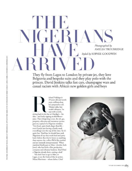 Tatler UK December 2013 Nigeria Money Set 002