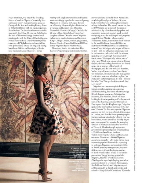 Tatler UK December 2013 Nigeria Money Set 003