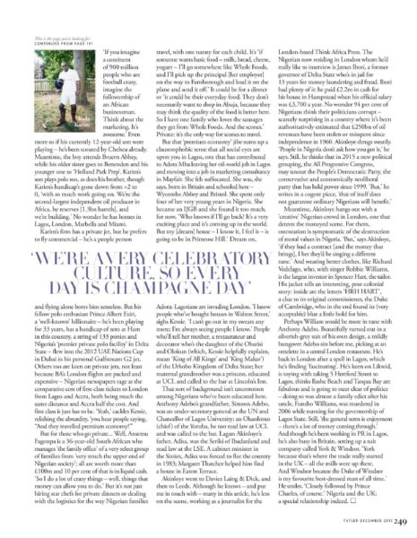 Tatler UK December 2013 Nigeria Money Set 009