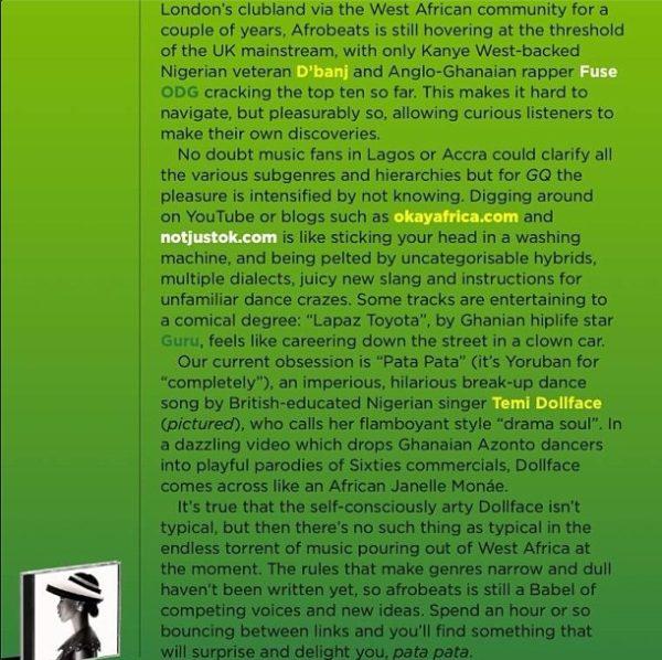 Temi Dollface - November 2013 - British GQ 25th Anniversary Issue - BellaNaija 02