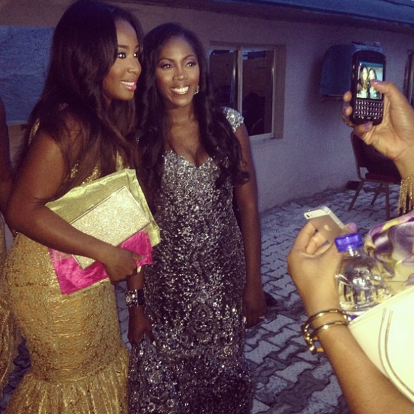 Tiwa's 3rd look! Pictured with Joyce Jacob