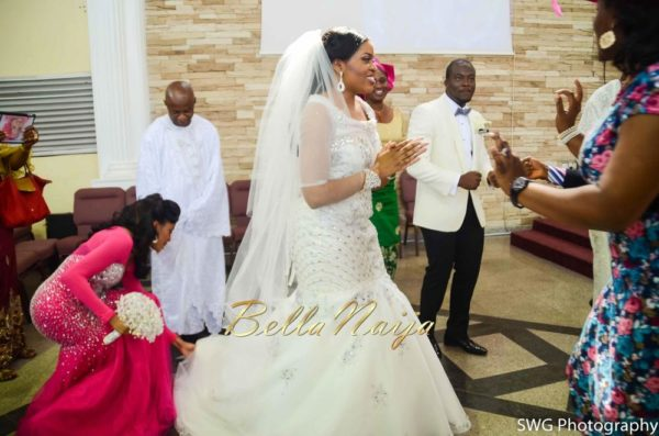 Uju Edosa Nigerian Church White Wedding BellaNaija Victoria Roberts Solutionsuju&edos white wedding_0664