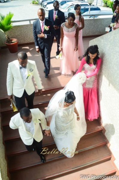 Uju Edosa Nigerian Church White Wedding BellaNaija Victoria Roberts Solutionsuju&edos white wedding_0684