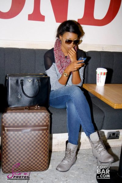 Yvonne Nelson arrives London for her Birthday - November 2013 - BellaNaija002
