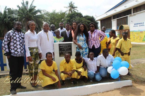 Yvonne Okoro celebrates 29th Birthday in Special School in Accra - November 2013 - BellaNaija014