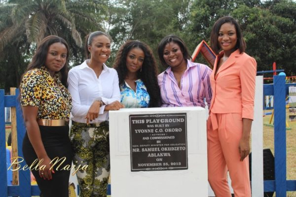 Yvonne Okoro celebrates 29th Birthday in Special School in Accra - November 2013 - BellaNaija015