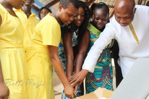 Yvonne Okoro celebrates 29th Birthday in Special School in Accra - November 2013 - BellaNaija018