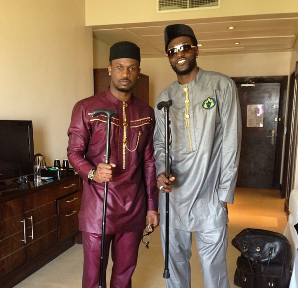 Peter & footballer Emmanuel Adebayor