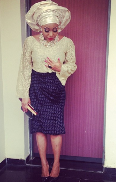 Rita Dominic | Top by Lanre Da Silva Ajayi, Makueup by Mary Jane Ohobu | Styled by Ebun Aboderin