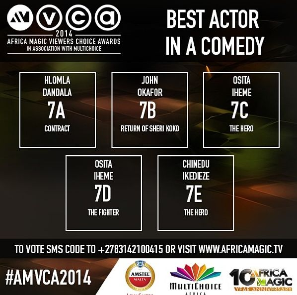 2014 AMVCA - Best Actor in a Comedy - Decemeber 2013 - BellaNaija