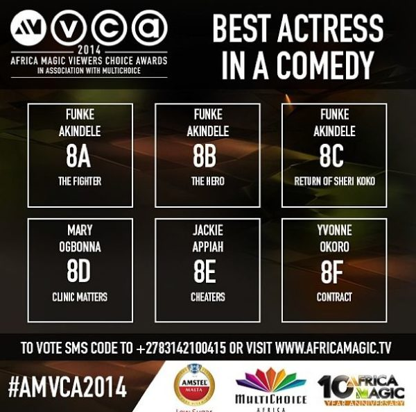 2014 AMVCA - Best Actress in a Comedy - Decemeber 2013 - BellaNaija