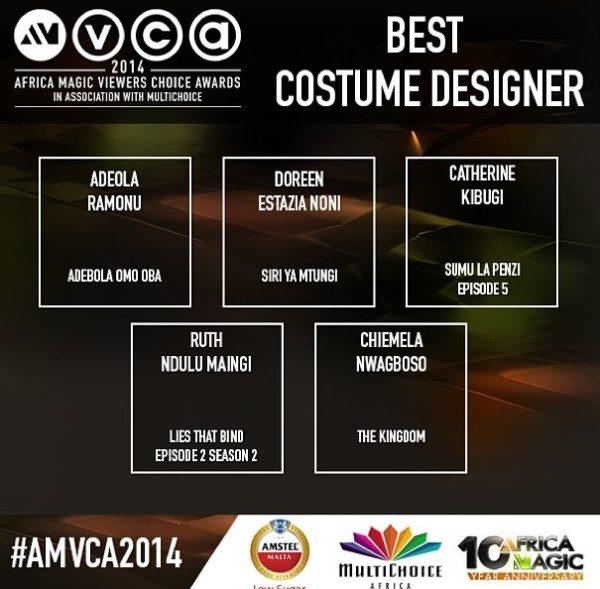 2014 AMVCA - Best Costume Designer - Decemeber 2013 - BellaNaija